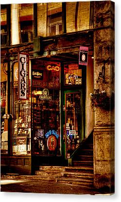 Seattle Cigar Shop Canvas Print by David Patterson