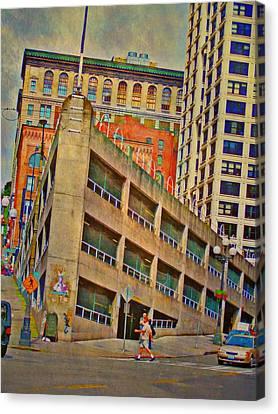 Seattle Cityscape - Vertical Canvas Print