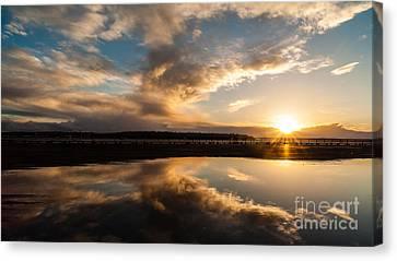 Seattle Clouds Sunstar Canvas Print