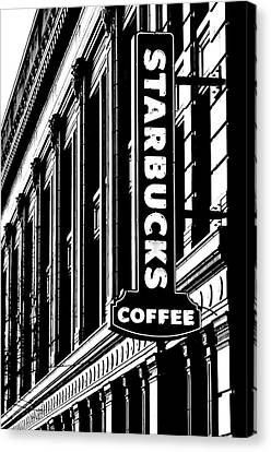 Seattle Icon Black And White Canvas Print by Benjamin Yeager