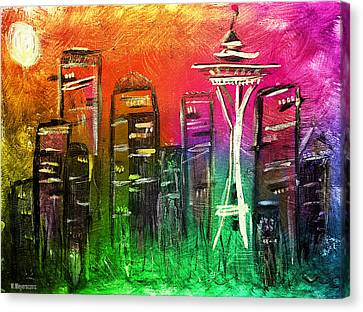 Seattle Land Of Color Canvas Print by Melisa Meyers