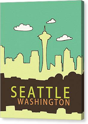 Seattle Canvas Print by Lisa Barbero