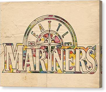 Seattle Mariners Poster Art Canvas Print by Florian Rodarte
