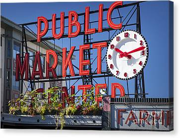 Seattle Market  Canvas Print by Brian Jannsen