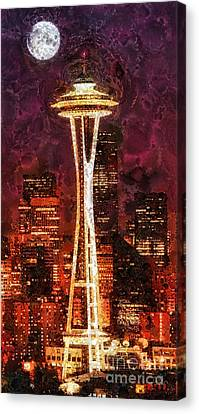 Seattle Canvas Print by Mo T