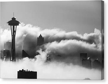 Seattle Fog Canvas Print