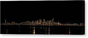 Seattle Panorama Canvas Print by Brian Xavier