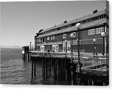 Canvas Print featuring the photograph Seattle Pier by Kirt Tisdale
