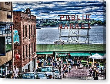 Seattle Public Market II Canvas Print