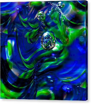 Seattle Seahawks Glass Macro Abstract Canvas Print by David Patterson