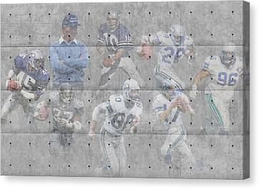 Seattle Seahawks Legends Canvas Print by Joe Hamilton