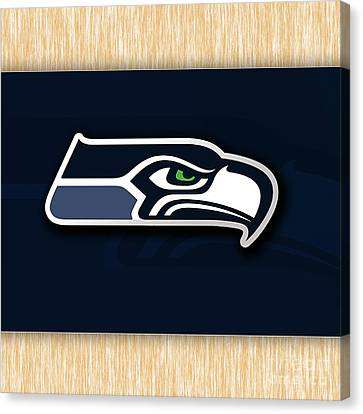Seattle Seahawks Canvas Print by Marvin Blaine