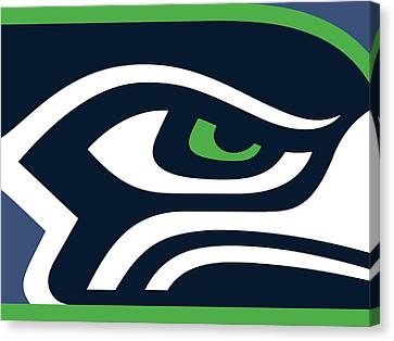 Mixed Canvas Print - Seattle Seahawks by Tony Rubino