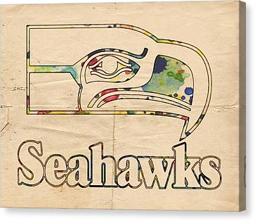 Seattle Seahawks Vintage Poster Canvas Print by Florian Rodarte