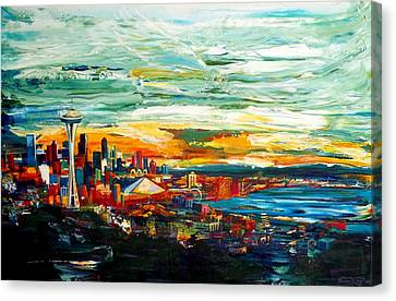 Seattle Sky Canvas Print by Suzanne King
