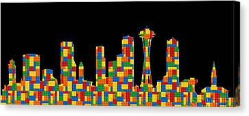Seattle Skyline 2 Canvas Print by Andrew Fare