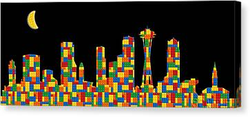 Seattle Skyline 3 Canvas Print by Andrew Fare