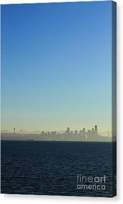Seattle Skyline Canvas Print by Hans Koepsell