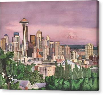 Seattle Skyline Canvas Print by Josh Marks