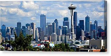 Seattle Skyline Panorama Canvas Print by Ricardo J Ruiz de Porras