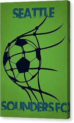 Seattle Sounders Fc Goal Canvas Print by Joe Hamilton