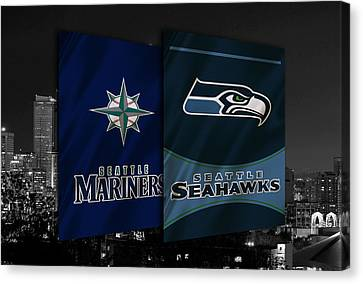 Mlb Canvas Print - Seattle Sports Teams by Joe Hamilton