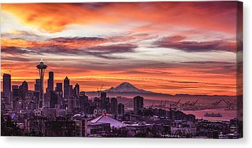 Seattle Sunrise Canvas Print
