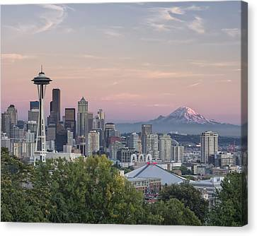 Seattle Sunset Canvas Print by Kyle Wasielewski