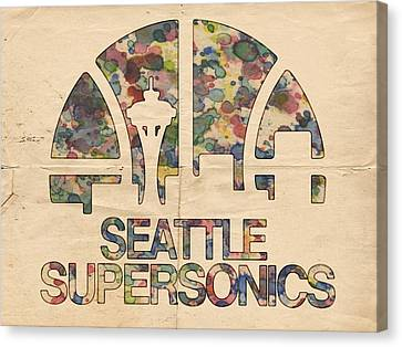 Seattle Supersonics Poster Vintage Canvas Print by Florian Rodarte