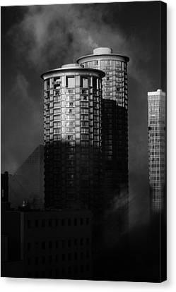 Seattle Towers Canvas Print by Paul Bartoszek