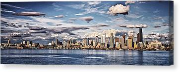 Seattle Washington - Skyline 4 Canvas Print