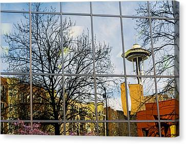 Seattle Washington Space Needle Reflection Canvas Print