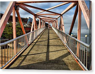 Canvas Print featuring the photograph Seattle Waterfront Bridge by Bob Noble Photography