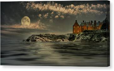 Seaview Moon Canvas Print by Robin-Lee Vieira