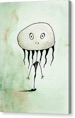 Seaweed Creature Canvas Print by Melissa Rohr Gindling