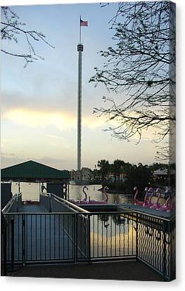 Canvas Print featuring the photograph Seaworld Skytower by David Nicholls