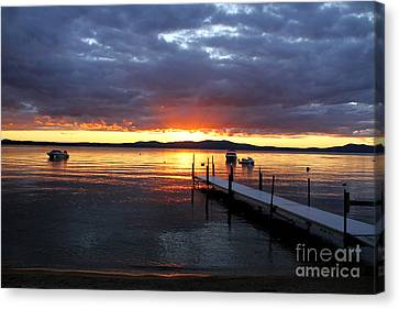 Sebago Lake Sunset Canvas Print