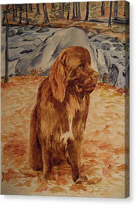 Canvas Print featuring the painting Sebastian by Ellen Canfield