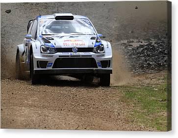 Sebastian Ogier Fia World Rally Championship Australia Canvas Print