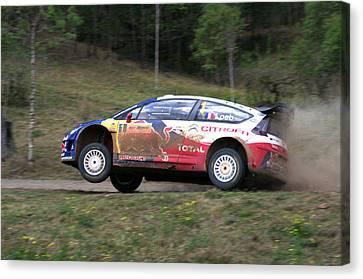 Sebastien Loeb - Repco Rally Australia Canvas Print