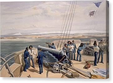 Sebastopol From The Sea, Plate From The Canvas Print by William 'Crimea' Simpson