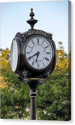 Secaucus Clock Marras Drugs Canvas Print