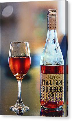Secco Italian Bubbles Canvas Print by Bill Tiepelman