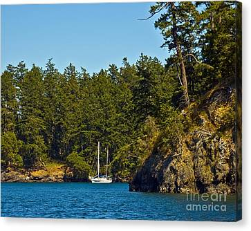 Secluded Anchorage Canvas Print by Chuck Flewelling