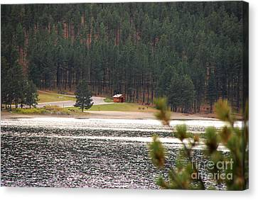 Canvas Print featuring the photograph Secluded Cabin by Mary Carol Story
