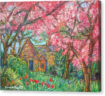 Secluded Home Canvas Print by Kendall Kessler