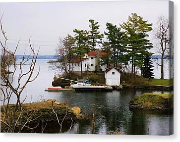 Seclusion On The Saint-laurent Canvas Print by Robert Culver
