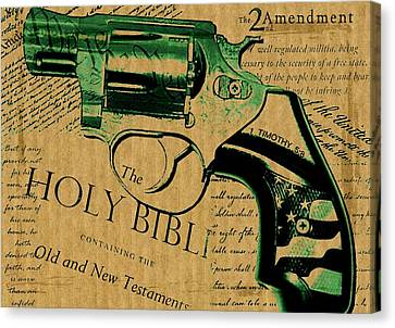 Second Amendment Canvas Print by ABA Studio Designs