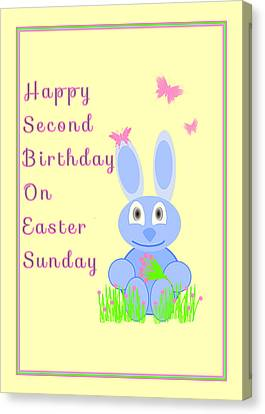 Second Birthday On Easter Canvas Print by Rosalie Scanlon