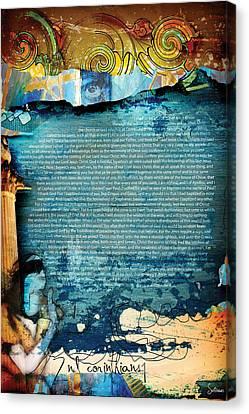 Second Corinthians 1 Canvas Print by Switchvues Design